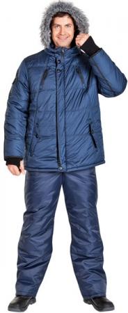 Синяя модель куртки ГУДЗОН . Уменьшенная фотография.