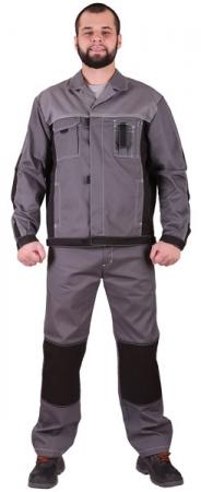 Костюм рабочий мужской  ГОРОД твил цвет серый. Уменьшенная фотография.