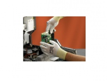 Перчатки ХАЙФЛЕКС нейлоновая основа ПУ покрытие, белые. Уменьшенная фотография.