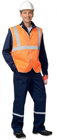 Жилет универсальный с СОП Оксфорд липучка оранжевый. Уменьшенная фотография.