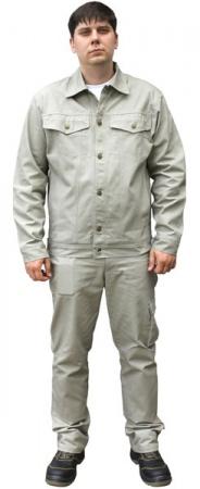 Брючный рабочий костюм ТЕХАС из хлопка для ИТР. Уменьшенная фотография.