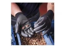 Перчатки Ansell СЕНСИЛАЙТ нейлоновая основа покрытие Полиуретан. Уменьшенная фотография.