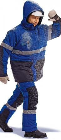 Костюм рабочий зимний НОРД синий. Уменьшенная фотография.