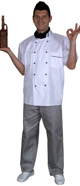 Куртка поварская белая мод.0298w-d