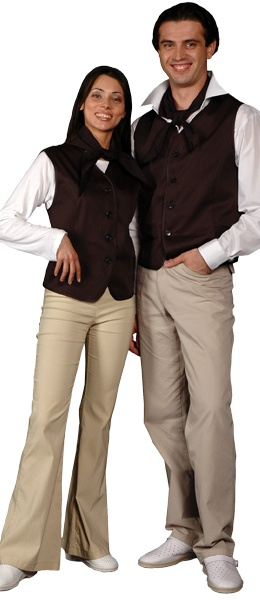 Жилет официанта продавца мужской мод.057g