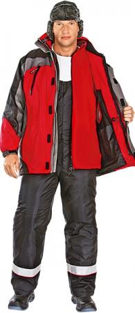 Куртка утепленная 2х1 ФРИСТАЙЛ красная. Уменьшенная фотография.