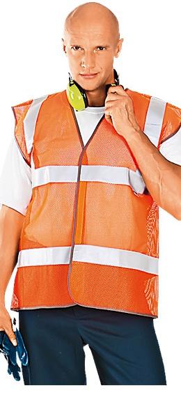 Жилет сигнальный АЭРОН оранжевый сетка