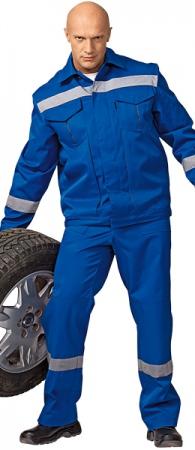 Костюм СЕРВИС-М синий с СОП. Уменьшенная фотография.