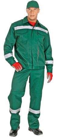 Костюм СЕРВИС-М зеленый с СОП. Уменьшенная фотография.