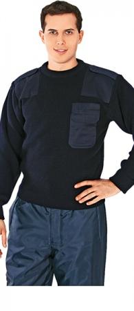 Свитер шерстяной Капитан синий. Уменьшенная фотография.