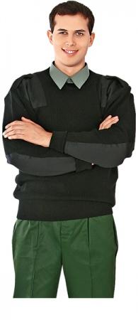 Свитер шерстяной Капитан черный. Уменьшенная фотография.