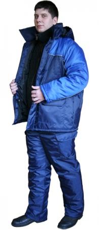 Костюм рабочий утепленный БАЛТИКА синий. Уменьшенная фотография.