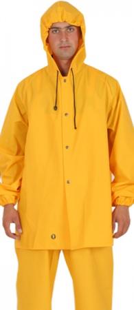 Влагозащитная куртка 3/4 PROS-101 ПВХ - 0,5 мм. (!)  . Уменьшенная фотография.