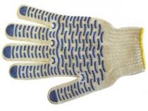 Перчатки трикотажные ПВХ Эконом 10 класс. Уменьшенная фотография.