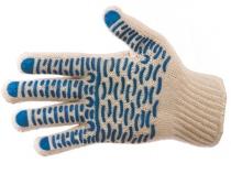 Перчатки трикотажные ПВХ Волна класс 7, 4-х нитка. Уменьшенная фотография.