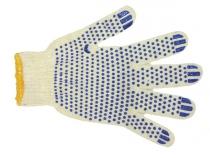 Перчатки трикотажные ПВХ Точка класс 7, 5-ти нитка. Уменьшенная фотография.