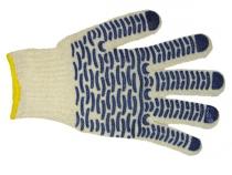 Перчатки трикотажные ПВХ Волна класс 7, 5-ти нитка. Уменьшенная фотография.