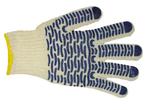 Купить Перчатки трикотажные ПВХ Волна класс 7, 5-ти нитка