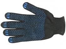 Перчатки ХБ ПВХ черные в ассортименте. Уменьшенная фотография.