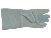 Краги спилковые пятипалые серые с подкладкой. Уменьшенная фотография.