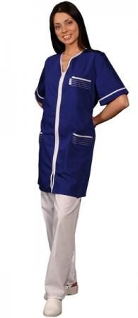 Халат медицинский женский темно-синий . Уменьшенная фотография.