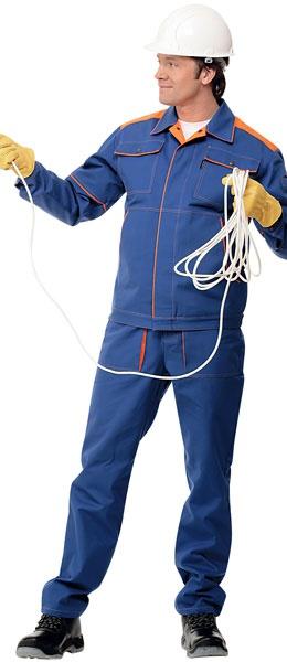 Спецодежда для Инженера куртка с полукомбинезоном