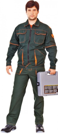 Костюм БРИГАДА куртка и брюки 100% хб. Уменьшенная фотография.