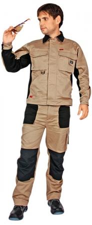 Куртка Спец Авангард бежевая с черным. Уменьшенная фотография.