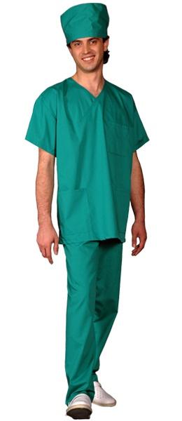 Костюм хирурга массажиста зеленый