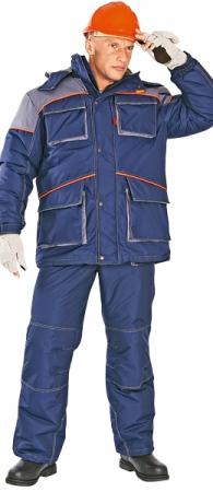 Костюм зимний мужской СПЕЦ темно синий. Уменьшенная фотография.