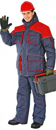 Костюм зимний мужской СПЕЦ серый. Уменьшенная фотография.