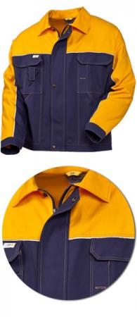 Оригинальная модель SWW рабочей куртки с желтым. Уменьшенная фотография.