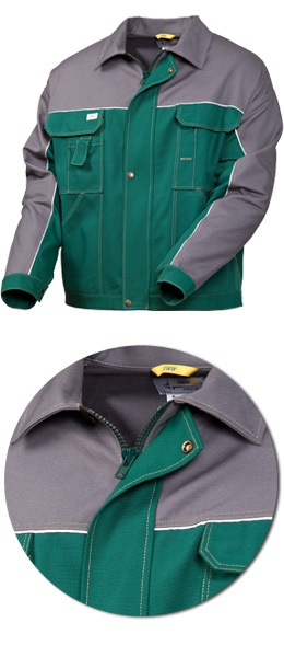 Куртка рабочая 4395-24-58 хлопок зеленый с серым