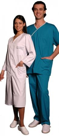 Костюм хирурга массажиста синий. Уменьшенная фотография.