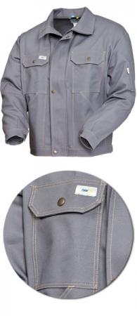 Куртка мужская серая модель 471-58 100% хлопок. Уменьшенная фотография.