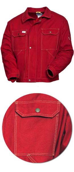 Красная рабочая  куртка SWW модель 471-83 100% хлопок