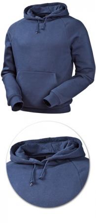 Толстовка с капюшоном модель 1735 синяя. Уменьшенная фотография.