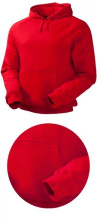 Толстовка с капюшоном модель 1735 красная. Уменьшенная фотография.