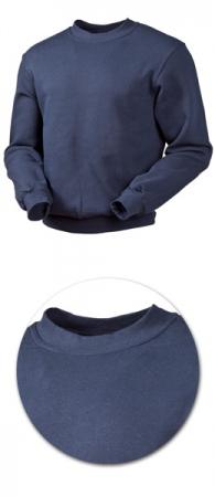 Толстовка с начесом модель 1734 синяя 80% хлопок. Уменьшенная фотография.