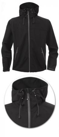 Куртка мужская Softshell модель 1433 с капюшоном. Уменьшенная фотография.