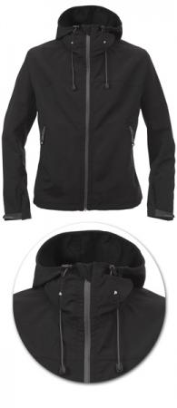 Куртка женская Softshell модель 1434 с капюшоном. Уменьшенная фотография.