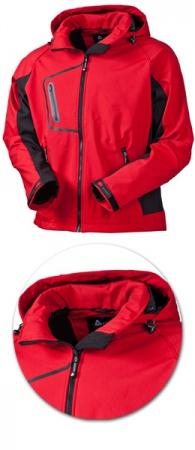 Куртка Acode модель 1444 красная с капюшоном. Уменьшенная фотография.