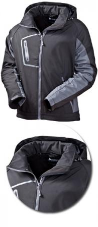 Куртка Acode модель 1444 черная с капюшоном. Уменьшенная фотография.