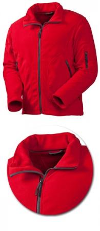 Куртка из флиса Acode модель 1411 красная. Уменьшенная фотография.