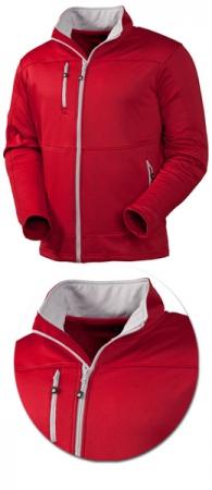 Куртка Acode Пауэршелл модель 1740 красная. Уменьшенная фотография.