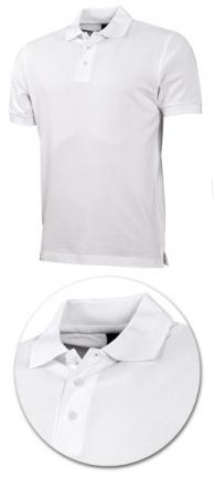 Рубашка поло с коротким рукавом 1718 белая. Уменьшенная фотография.