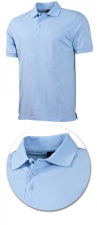 Рубашка поло с коротким рукавом 1718 голубая. Уменьшенная фотография.