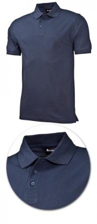 Рубашка поло с коротким рукавом 1718 синяя. Уменьшенная фотография.