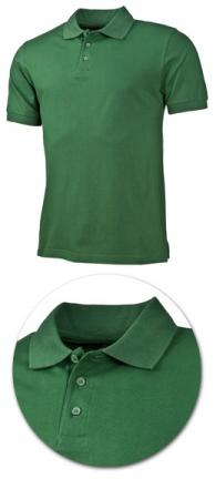 Рубашка поло с коротким рукавом 1718 зеленая. Уменьшенная фотография.
