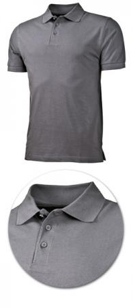Рубашка поло с коротким рукавом 1718 серая. Уменьшенная фотография.